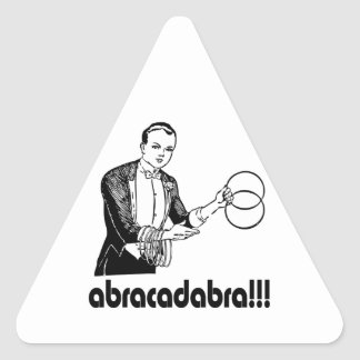Abracadabra  Magician Triangle Sticker