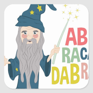 Abracadabra Square Sticker