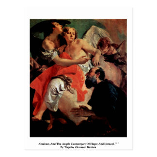 Abraham And The Angels Postcard