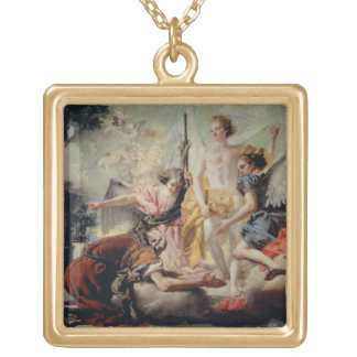 Abraham and the Three Angels Gold Plated Necklace
