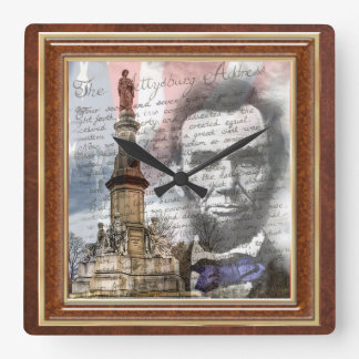 "Abraham Lincoln 10.75"" Square Wall Clock"
