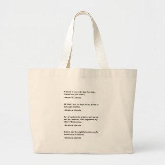 Abraham Lincoln 11 Large Tote Bag