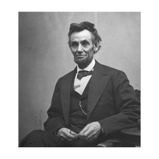Abraham Lincoln 1865 Canvas Prints