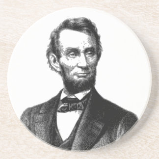 "Abraham Lincoln 1865 ""The great emancipator"" Beverage Coaster"