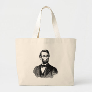 "Abraham Lincoln 1865 ""The great emancipator"" Large Tote Bag"