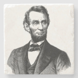 "Abraham Lincoln 1865 ""The great emancipator"" Stone Coaster"