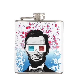 Abraham Lincoln - 3D Hip Flask