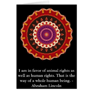 Abraham Lincoln  Animal Rights Quote Greeting Card