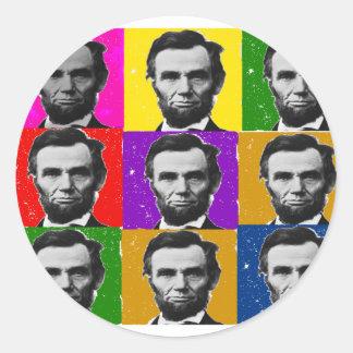 Abraham Lincoln Art Gifts---Unique 9 Photos Round Sticker