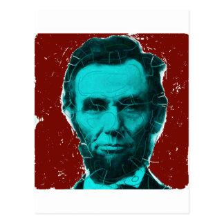 Abraham Lincoln Art Shirt--Unique Design Postcard