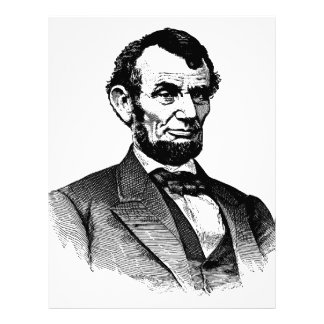 Abraham Lincoln - black and white drawing Letterhead