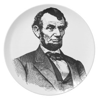 Abraham Lincoln - black and white drawing Plate