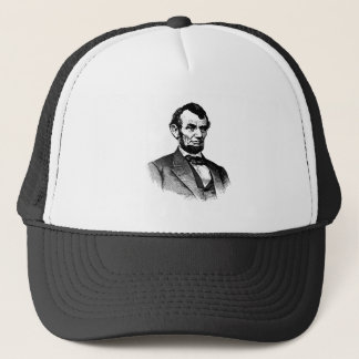 Abraham Lincoln - black and white drawing Trucker Hat