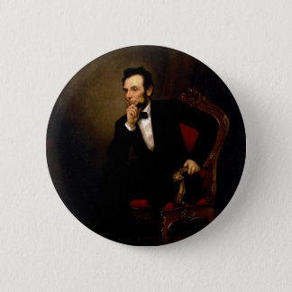 Abraham Lincoln by George Peter Alexander Healy 2 Inch Round Button