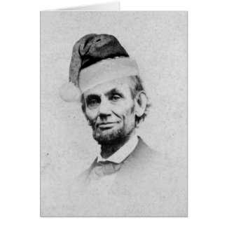 Abraham Lincoln Christmas Greeting Card