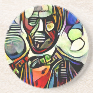 Abraham Lincoln digital colourful painting Coaster