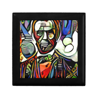 Abraham Lincoln digital colourful painting Gift Box