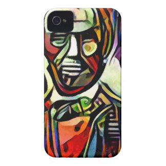 Abraham Lincoln digital colourful painting iPhone 4 Case-Mate Case