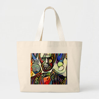 Abraham Lincoln digital colourful painting Large Tote Bag