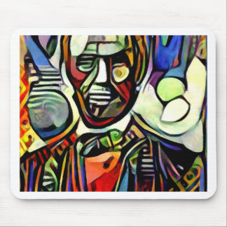 Abraham Lincoln digital colourful painting Mouse Pad