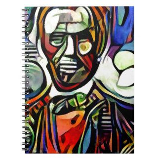 Abraham Lincoln digital colourful painting Notebook