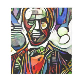 Abraham Lincoln digital colourful painting Notepad