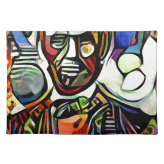 Abraham Lincoln digital colourful painting Placemat