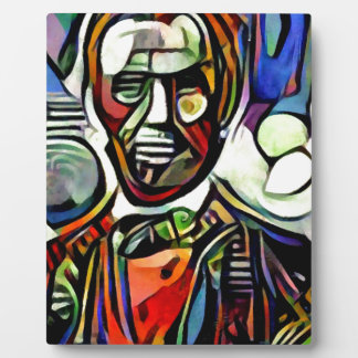 Abraham Lincoln digital colourful painting Plaque