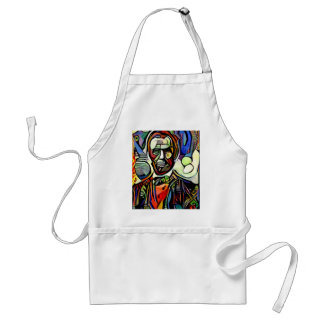 Abraham Lincoln digital colourful painting Standard Apron