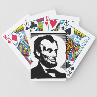 Abraham Lincoln Drawing Bicycle Playing Cards