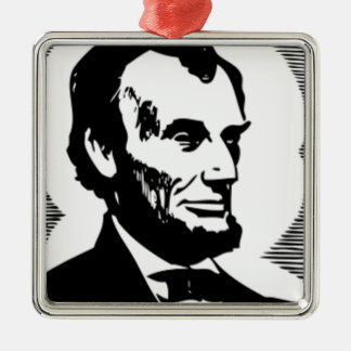 Abraham Lincoln Drawing Metal Ornament