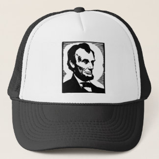 Abraham Lincoln Drawing Trucker Hat