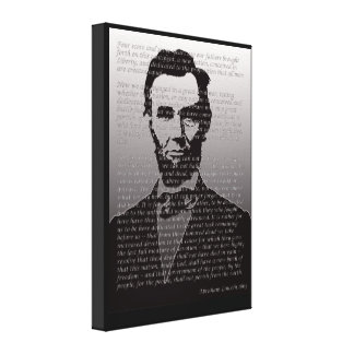 Abraham Lincoln Gettysburg Address Portrait Print