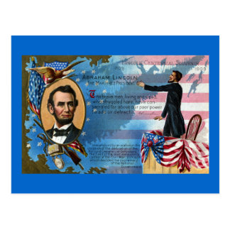 Abraham Lincoln Giving Gettysburg Address Postcard