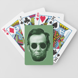 Abraham Lincoln - Green Bicycle Playing Cards