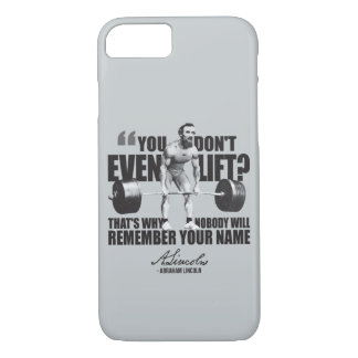 Abraham Lincoln Gym Humor - Do You Even Lift? iPhone 7 Case