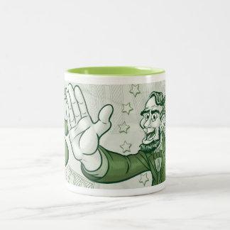 Abraham Lincoln High Five Two-Tone Coffee Mug