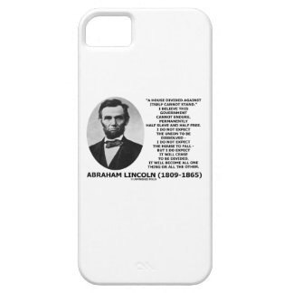 Abraham Lincoln House Divided Cannot Stand Quote iPhone 5 Cover