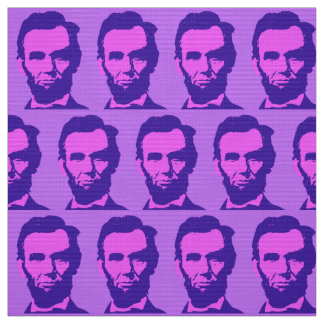 Abraham Lincoln in Pink & Purple Fabric