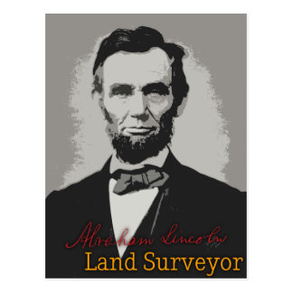 Abraham Lincoln Land Surveyor Postcard