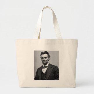 Abraham Lincoln Large Tote Bag