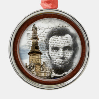 Abraham Lincoln Metal Ornament