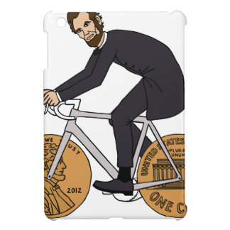 Abraham Lincoln On A Bike With Penny Wheels Bottle Cover For The iPad Mini