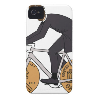Abraham Lincoln On A Bike With Penny Wheels Bottle iPhone 4 Case