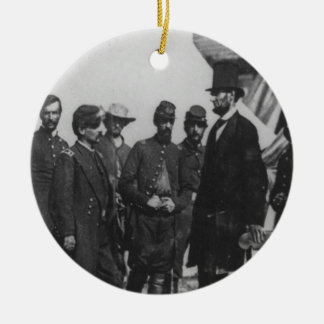 Abraham Lincoln on Battlefield at Antietam Ceramic Ornament
