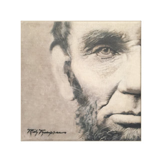 "Abraham Lincoln Original - ""Right Perspective"" Canvas Print"