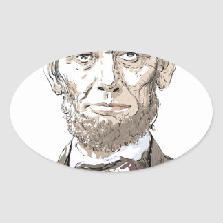 Abraham Lincoln Oval Sticker
