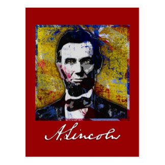 Abraham Lincoln - Painting Postcard