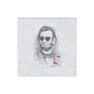 Abraham Lincoln Party Animal Stone Magnets