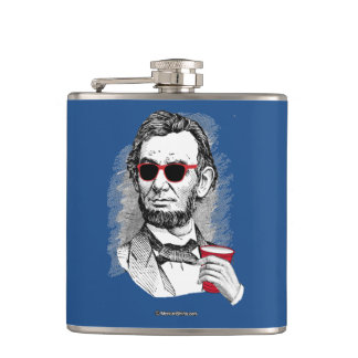Abraham Lincoln Party Animal Hip Flask